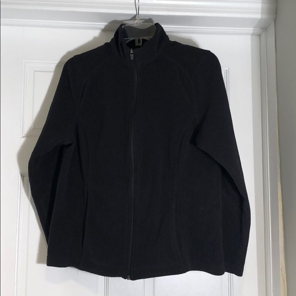 Lands End Jackets Amp Coats Lands End Black Zipup Fleece